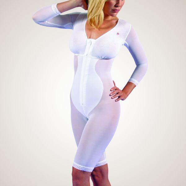 Kompressions-Body mit knielangem Bein, dreiviertellangem Arm und BH