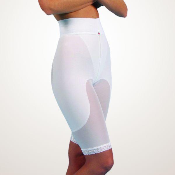 Kompressions-Miederhose, mit knielangem Bein, verstärkt an Bauch und Hüfte